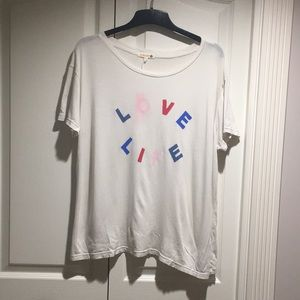Sundry *Love Life* women's t shirt size 2